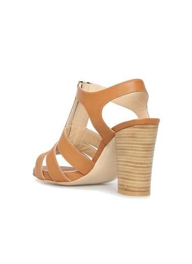 Divarese Divarese 5022868 Kadın Deri Topuklu Ayakkabı Taba